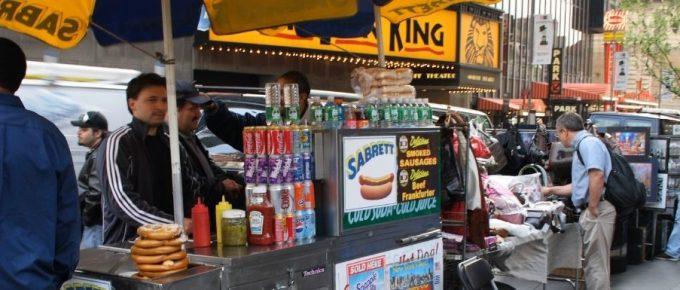 Hot Dog Vendor in New York